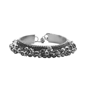 Teejh Anusha Silver Oxidized Ghungroo Bangle