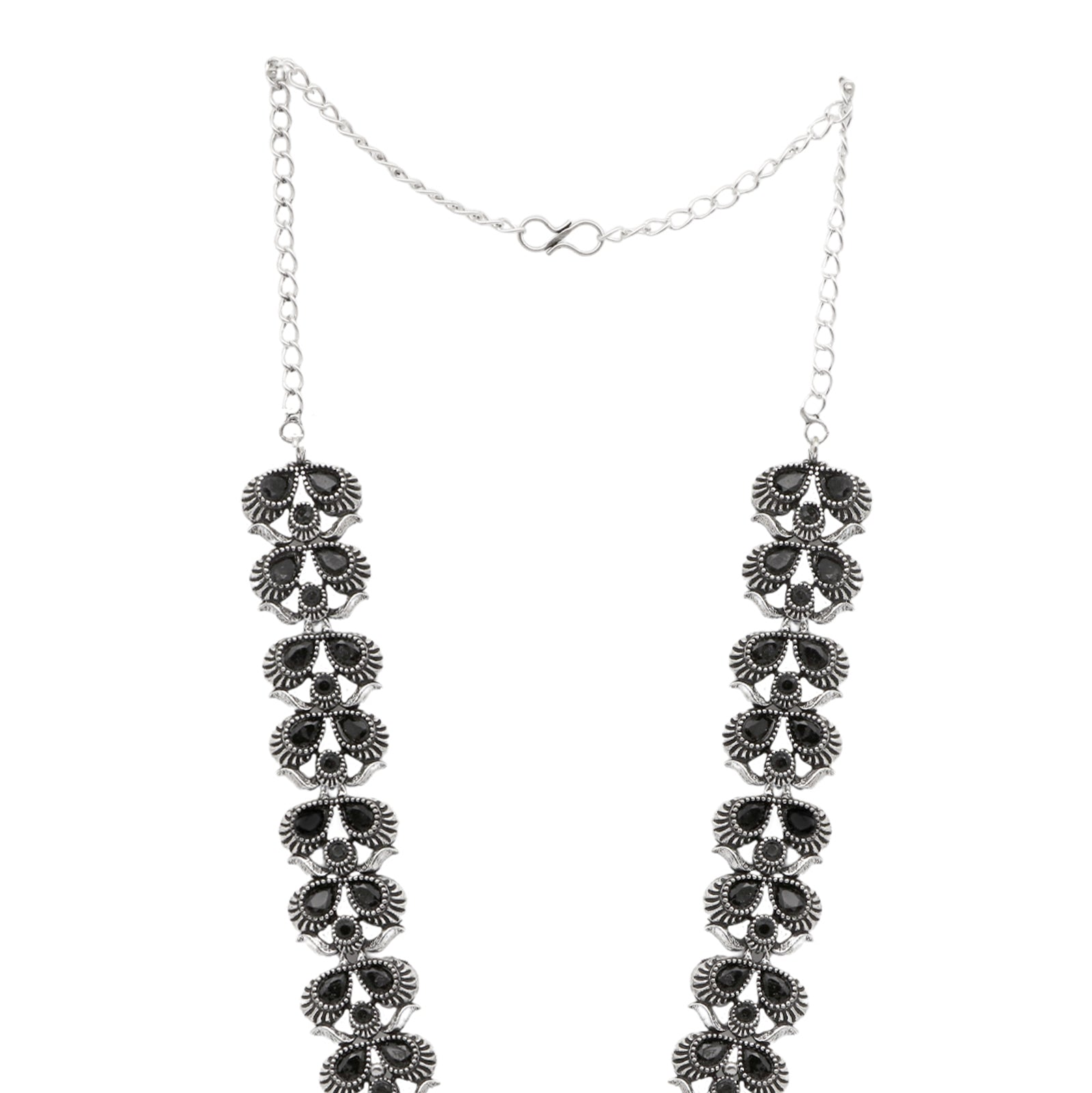 Teejh Vaidehi Black Stone Necklace Set