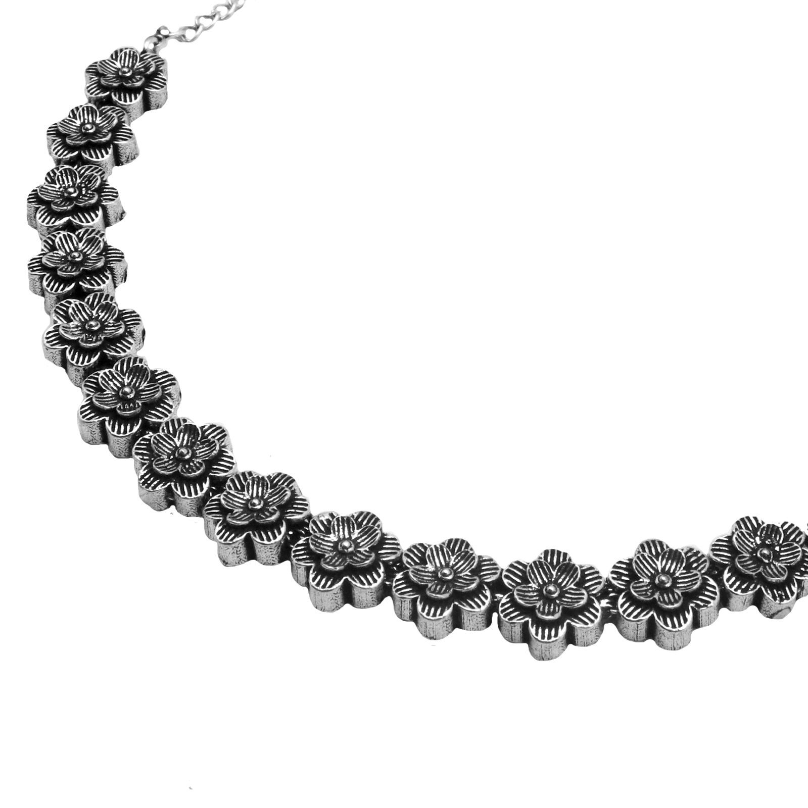 Teejh Shachi Floral Metallic Necklace Set