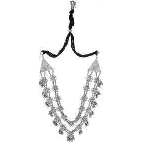 Teejh Rua Antique Silver Polish Long Necklace