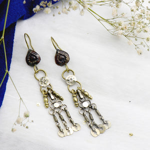 Teejh Ifat Long Afghani Earrings