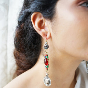 Teejh Laila Red Afghani Earrings