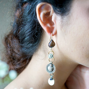Teejh Mehtab Afghani Metallic Earrings