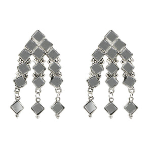 Teejh Kashvi Silver Oxidized Mirror Jewelry Gift Set