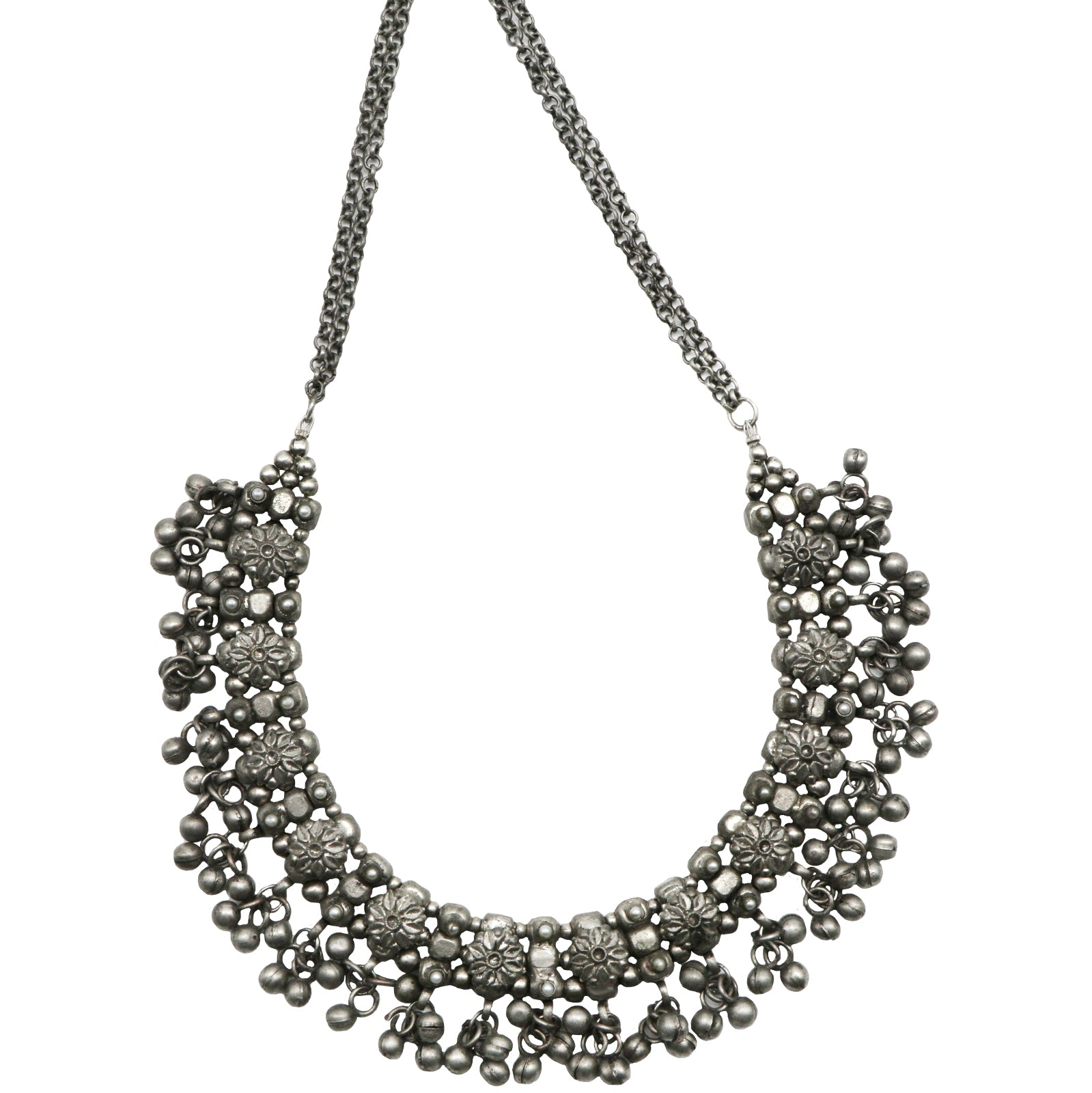 Teejh Adrija Metallic Silver Oxidized Jewelry Gift Set