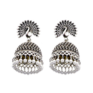 Teejh Sharvi Metallic Silver Oxidised Jewelry Gift Set