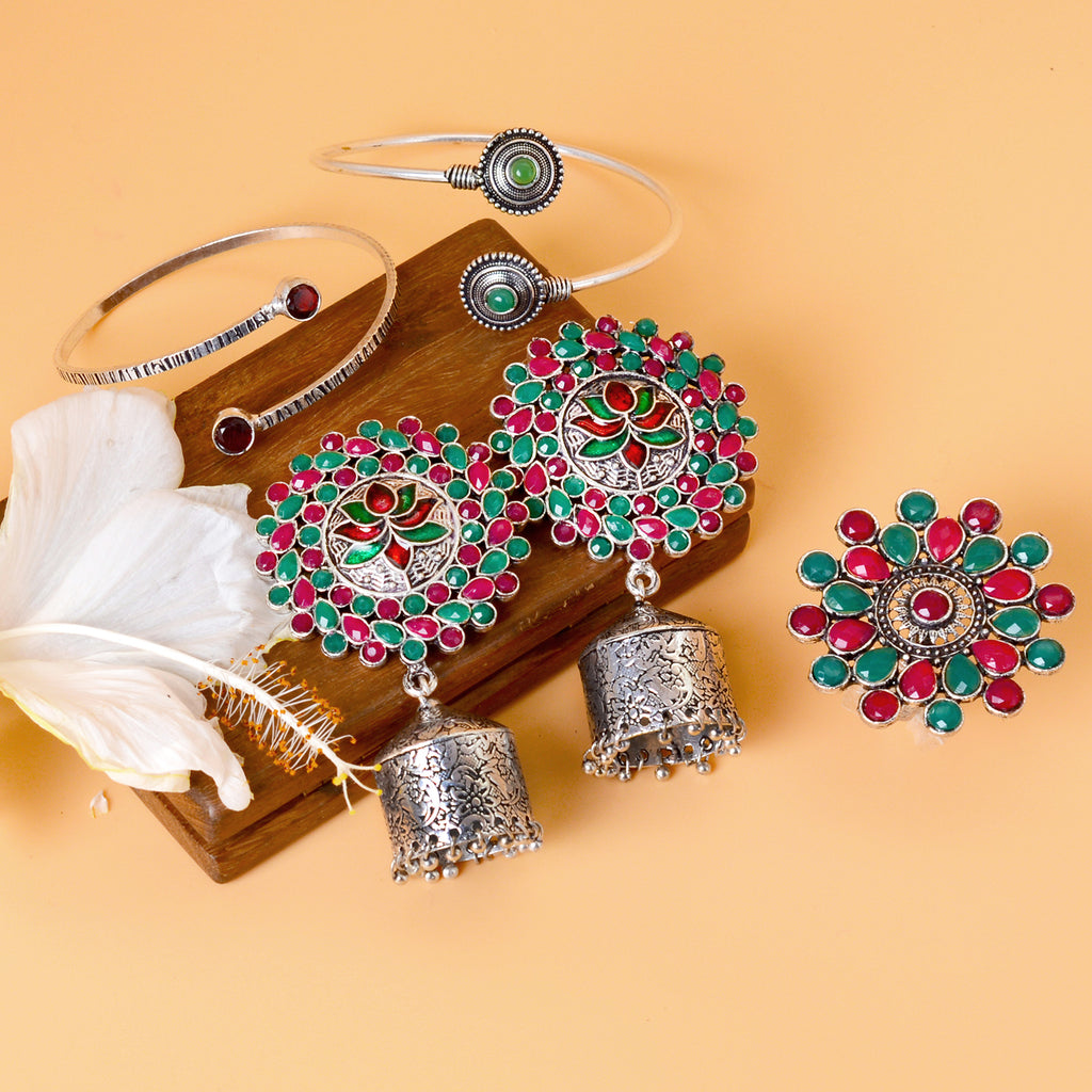 Kaveri Multi Colored Jewelry Gift Set - Teejh
