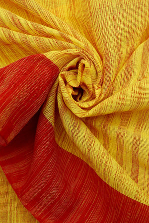 Teejh Rajayotsava Khadi Cotton Saree