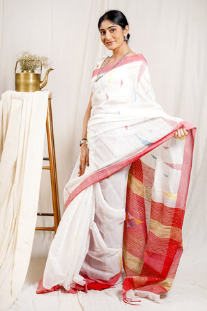 Teejh Noyoner Moni Handloom Cotton Silk Saree