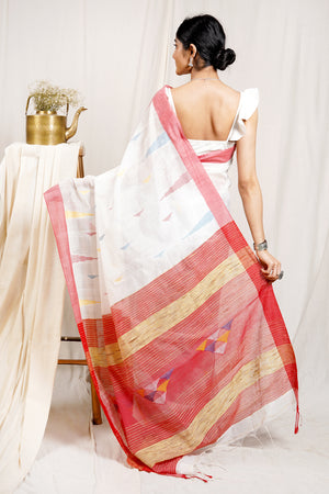 Teejh Peace Lily Saree & Jewelry Gift Set