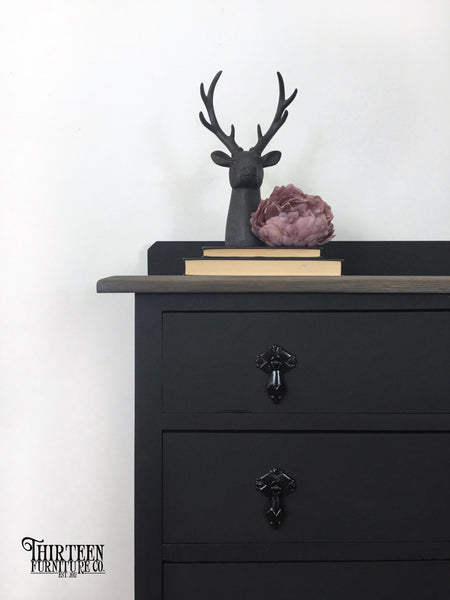 How To Create A Matte Black Finish With Furniture Paint