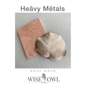 ROSE GOLD | Heavy Metal Gilding Paint | Wise Owl Metallic Paint