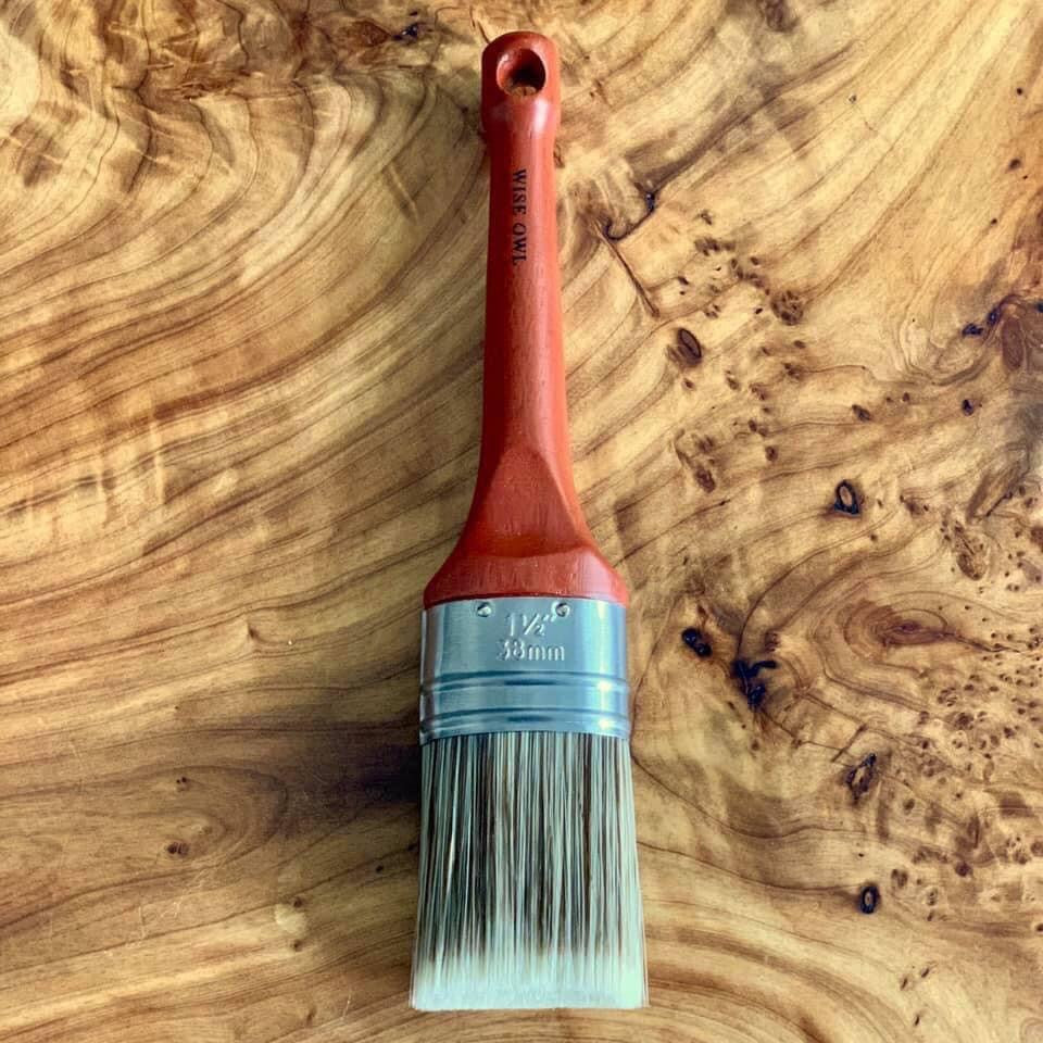 Wax Brush | 1.5inch Oval Brush | Wise Owl Premium Brushes