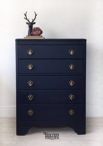 ANCHOR | Navy Blue Furniture Paint | Wise Owl Chalk Synthesis Paint