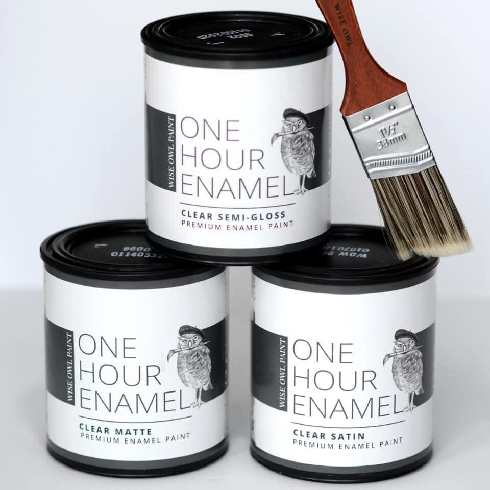 CLEAR One Hour Enamel | Furniture Varnish/Top Coat | Wise Owl