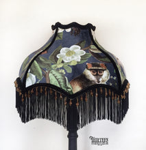Load image into Gallery viewer, Lampshade | Blue Velvet Jungle Design