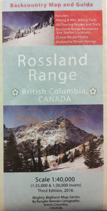 Rossland Range Backcountry Map and Guide