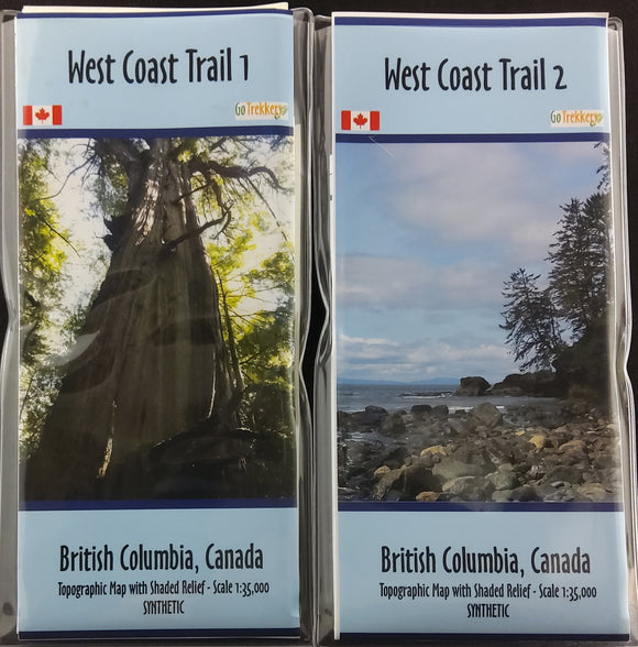 West Coast Trail Map Set