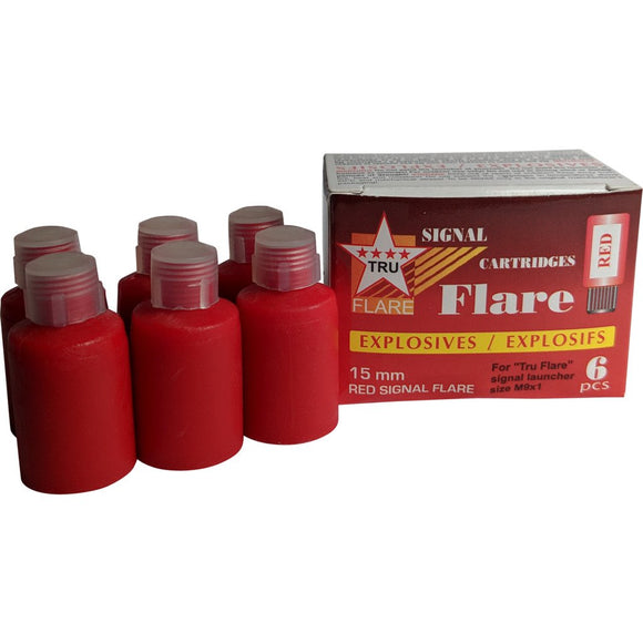 Tru Flare Red Flare Signal Cartidges