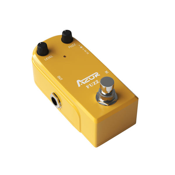 AZOR AP-310 Vintage Fuzz Mini Guitar Effect Pedal True Bypass Yellow