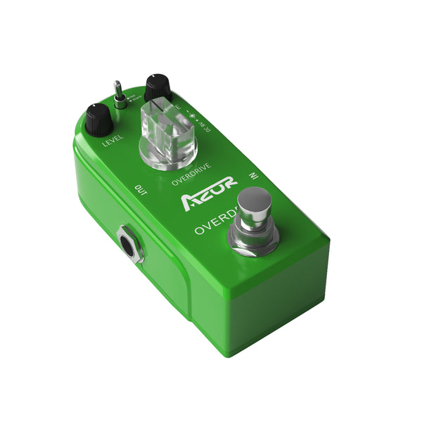AZOR AP-315 Mini Pedal Drive Classical Overdrive Guitar Effect Pedal True Bypass Hot/Warm Modes