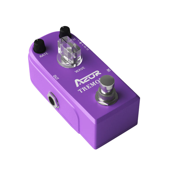 AZOR Mini Pedal Tremolo Classic Guitar Effect Pedal Super Mini AP-317