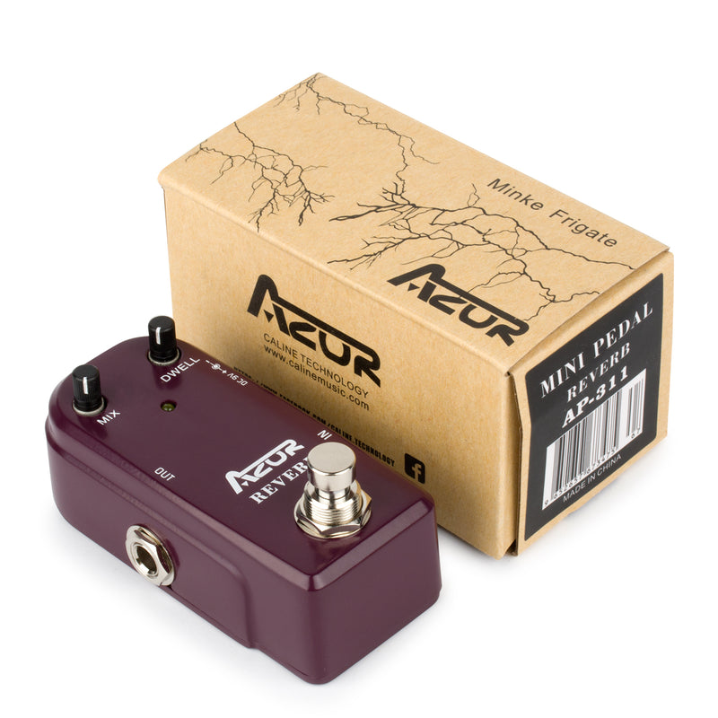 Azor Reverb Digital Guitar Effect Pedal True Bypass Aluminium-alloy case