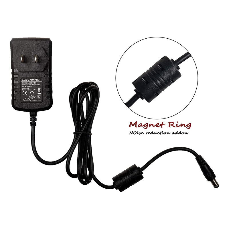 AZOR Pedal Power Supply Adapter with 5 Way Daisy Chain Cables Fit for 9V DC 1A Negative Tip Guitar Effect Pedal …