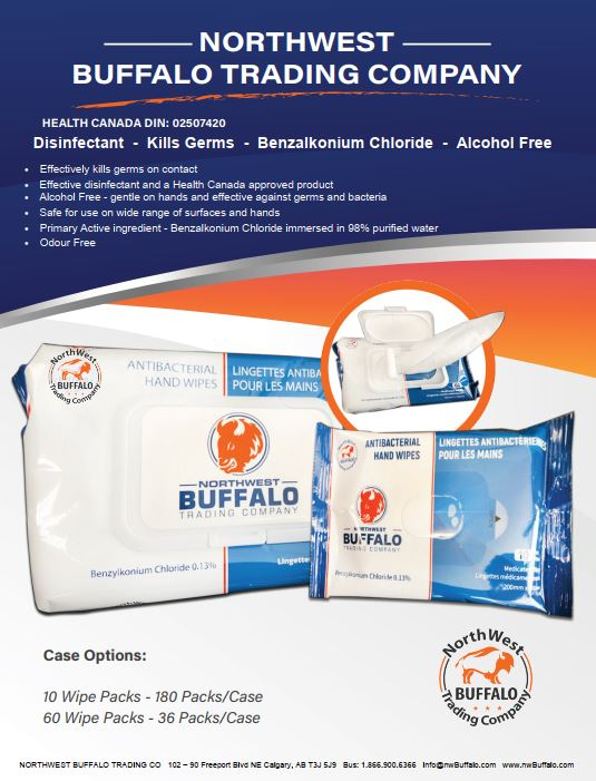 ANTIBACTERIAL WIPES - Benzalkonium Chloride Wipes