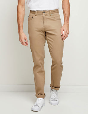 Stretch Rib Jean - Khaki