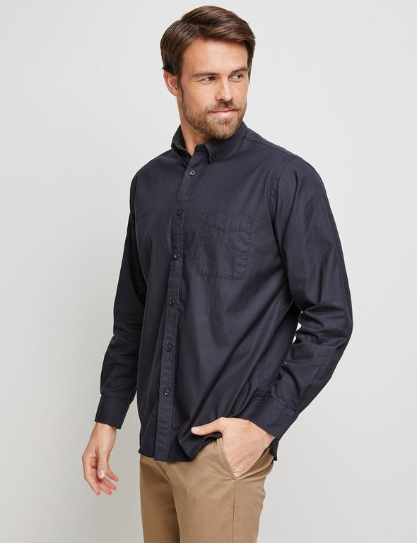 Keith Long Sleeve Shirt - Black