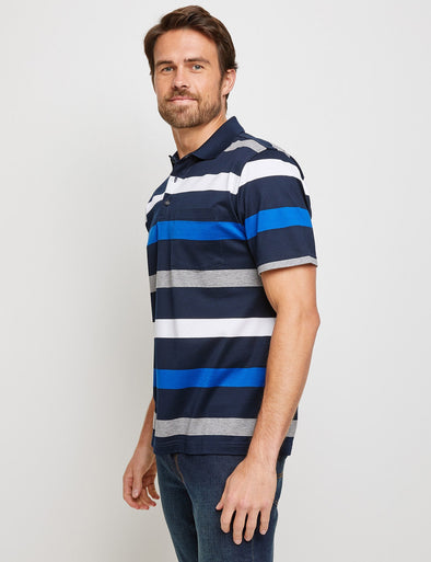 Floyd Mercerised Polo - Multi