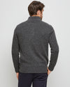 Hamish Charcoal Lambswool 1/2 Zip Knit -Back