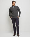 Hamish Charcoal Lambswool 1/2 Zip Knit