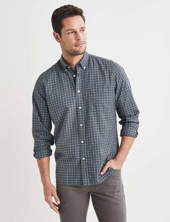 Byron Long Sleeve Check Shirt - Green Multi