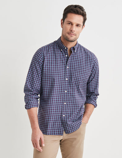 Byron Long Sleeve Check Shirt - Red Multi