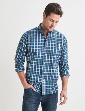 Walter Long Sleeve Check Shirt - Green