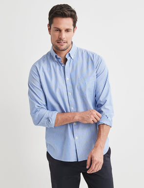 Wilfred Long Sleeve Stripe Shirt - Blue