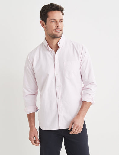 Alfred Long Sleeve Stripe Shirt - Pink