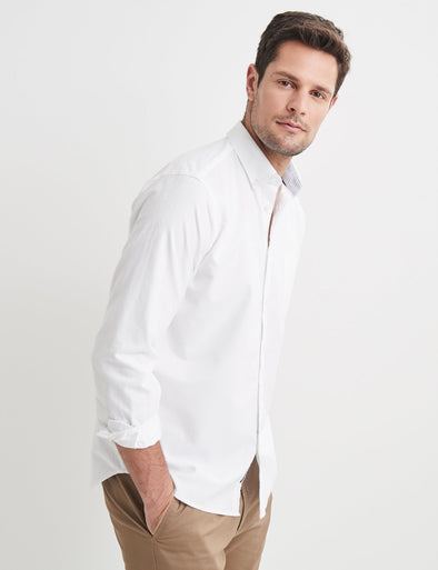 Harry Long Sleeve Shirt - White