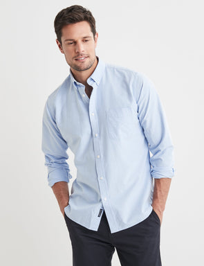 Harry Long Sleeve Shirt - Blue
