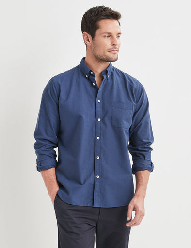 Vernon Long Sleeve Shirt - Navy
