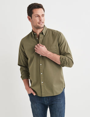 Brian Long Sleeve Twill Shirt - Green