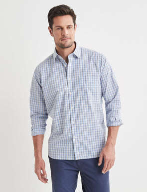 Allan Long Sleeve Check Shirt - Multi