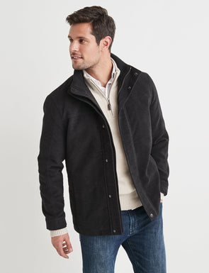 Miles Moleskin Jacket - Black