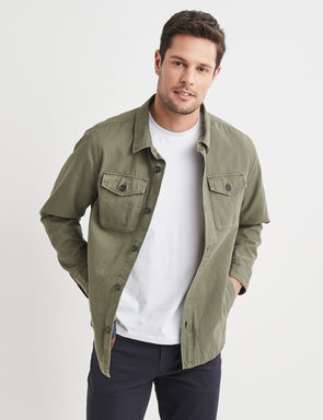 Max Double Pocket Short Jacket - Olive