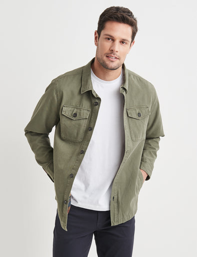 Max Double Pocket Short Jacket Olive