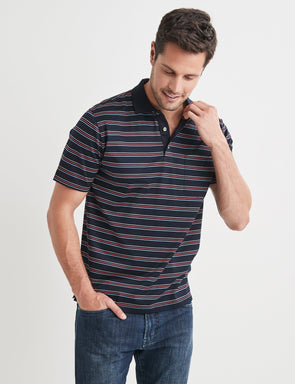 Andrew Mercerised Polo - Multi