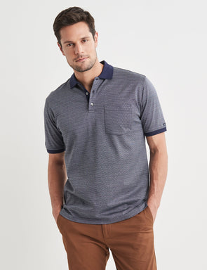 Barrett Mercerised Polo - Navy