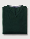 Dev Merino V Neck Knit - Forest